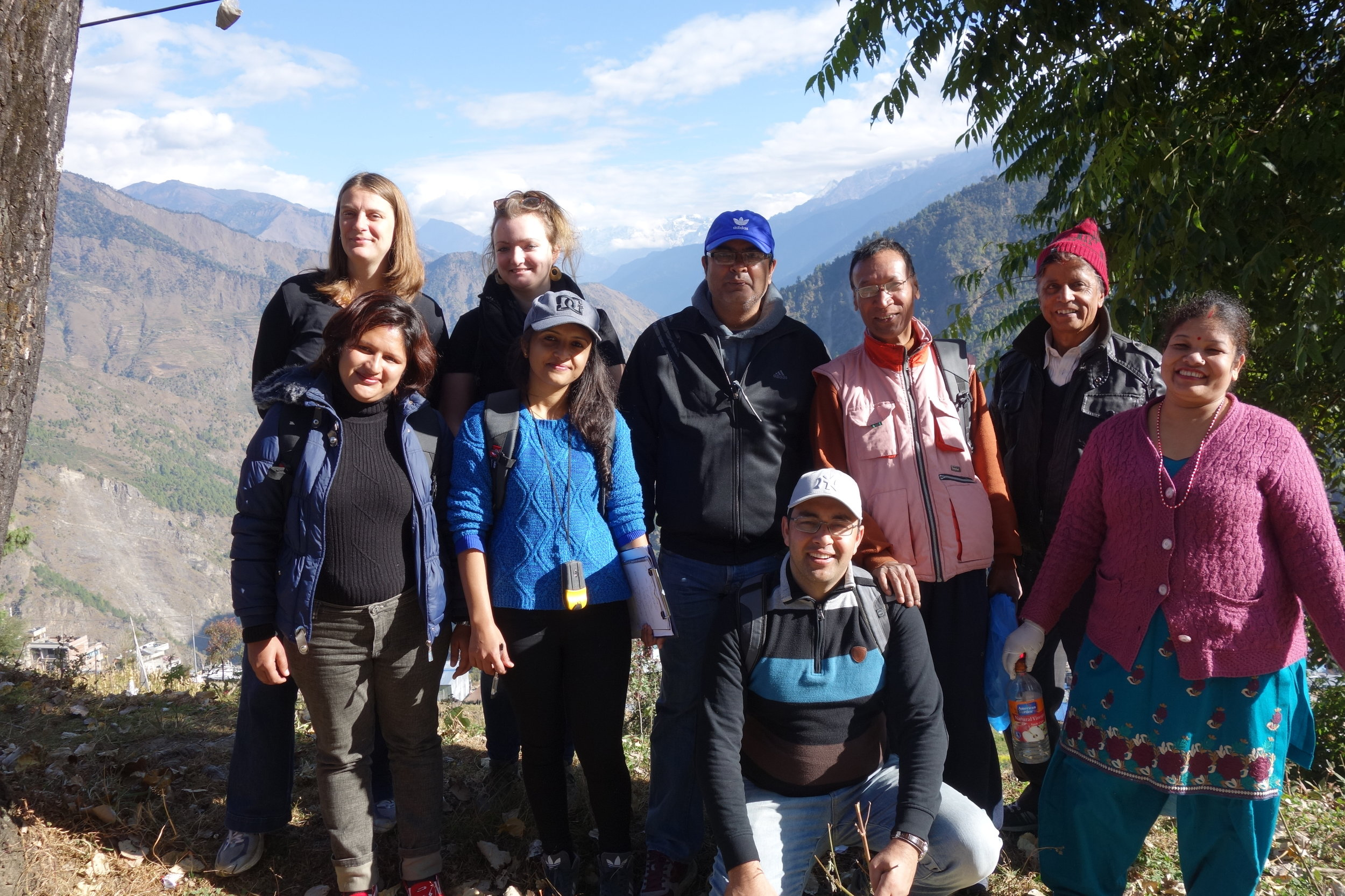 Eco-social field team in Nepal