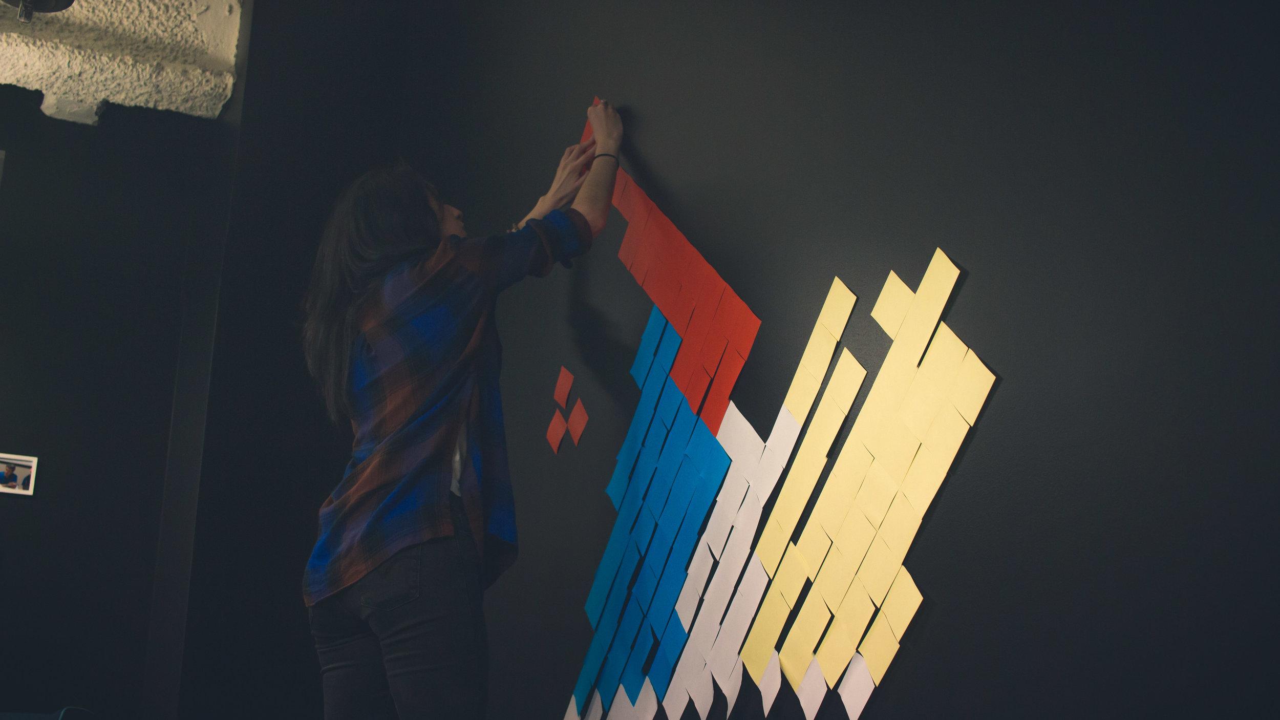 Post-it wall