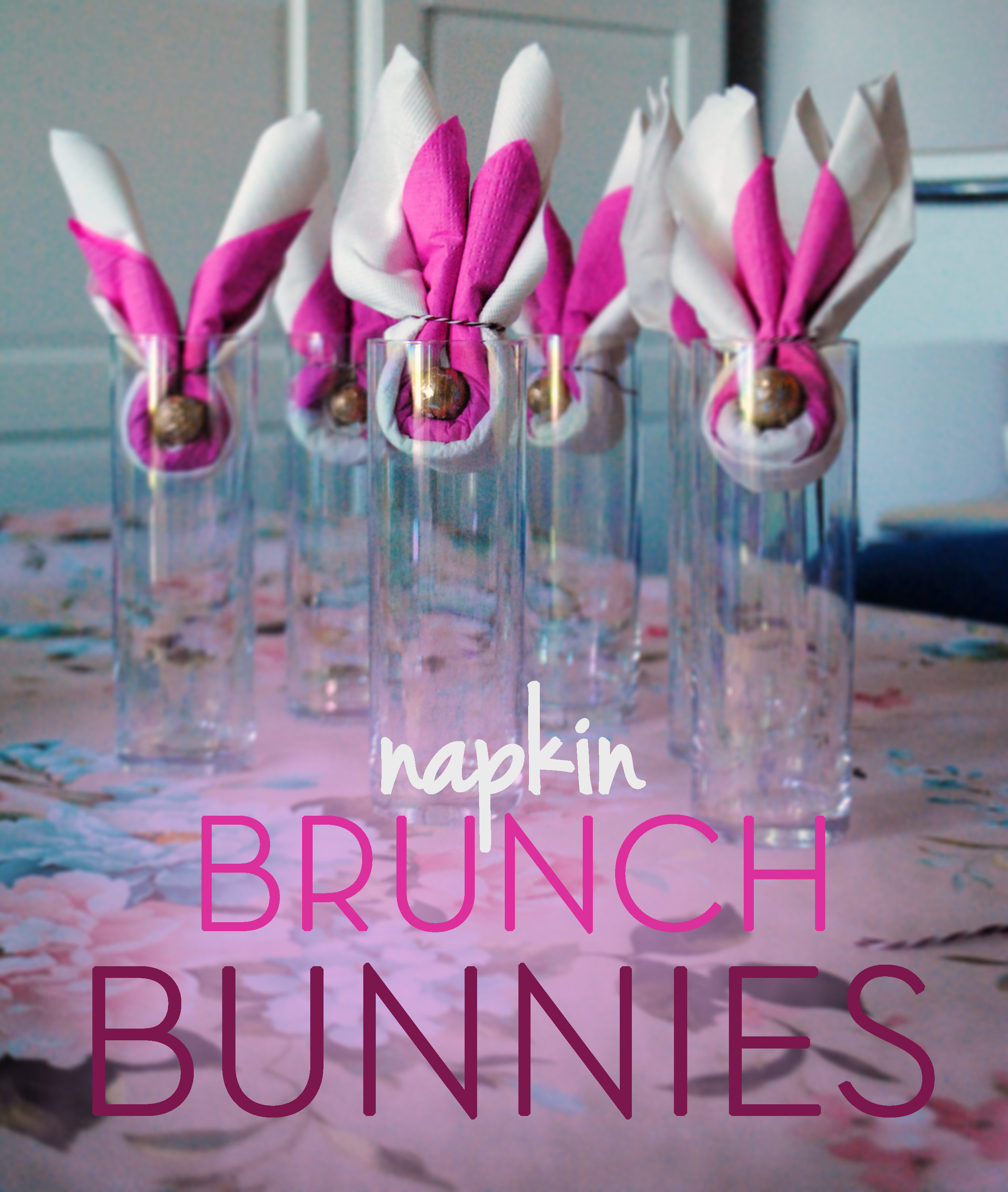 Easter brunch bunny napkins