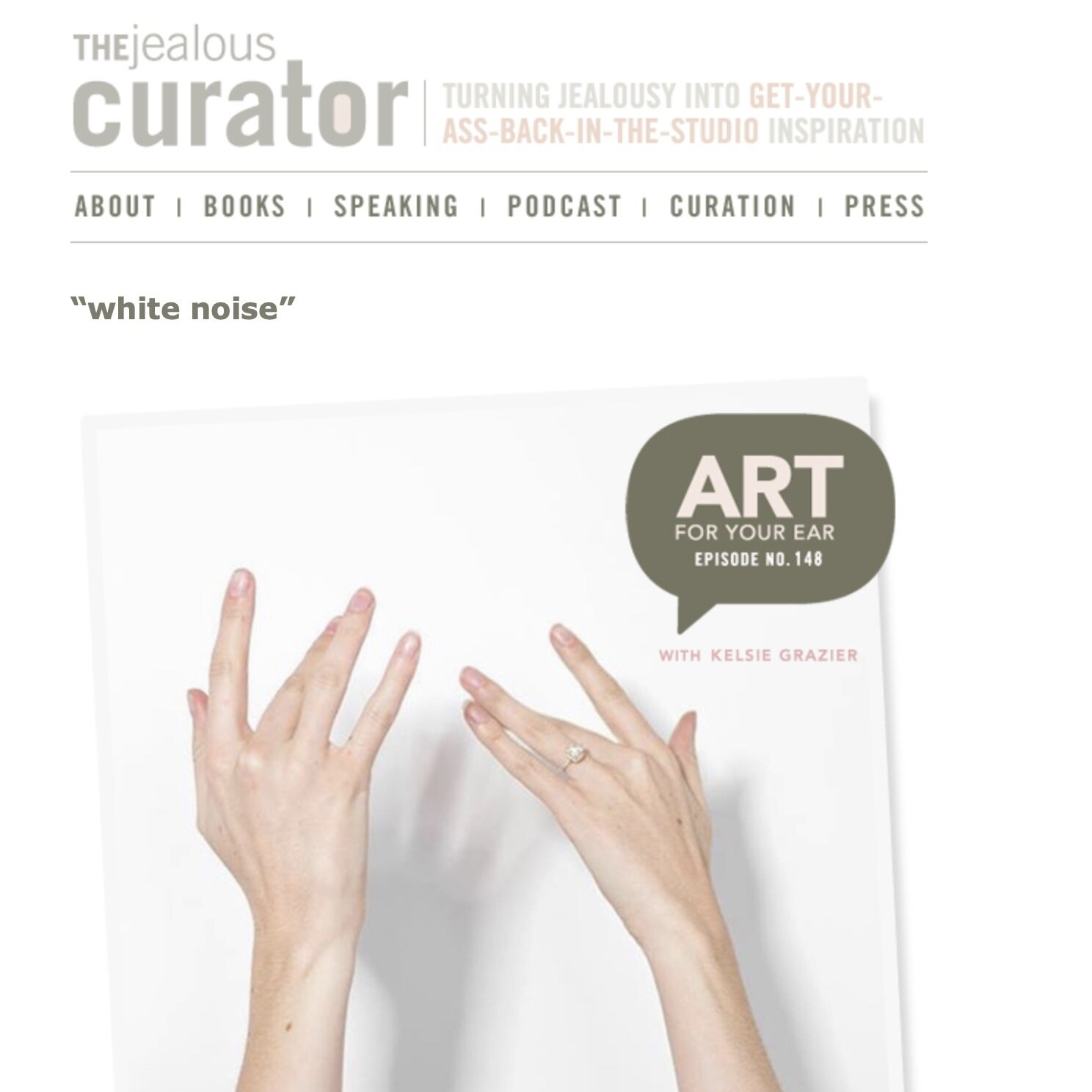 The Jealous Curator - Art for Your Ear Podcast