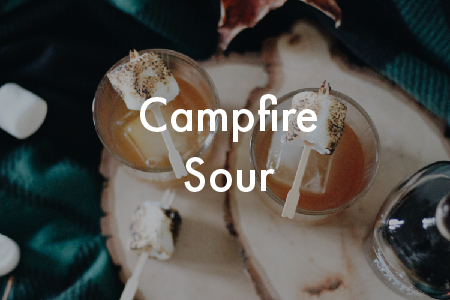 Campfire Sour Cocktail with Minnesota 14 Maple by Panther Distillery