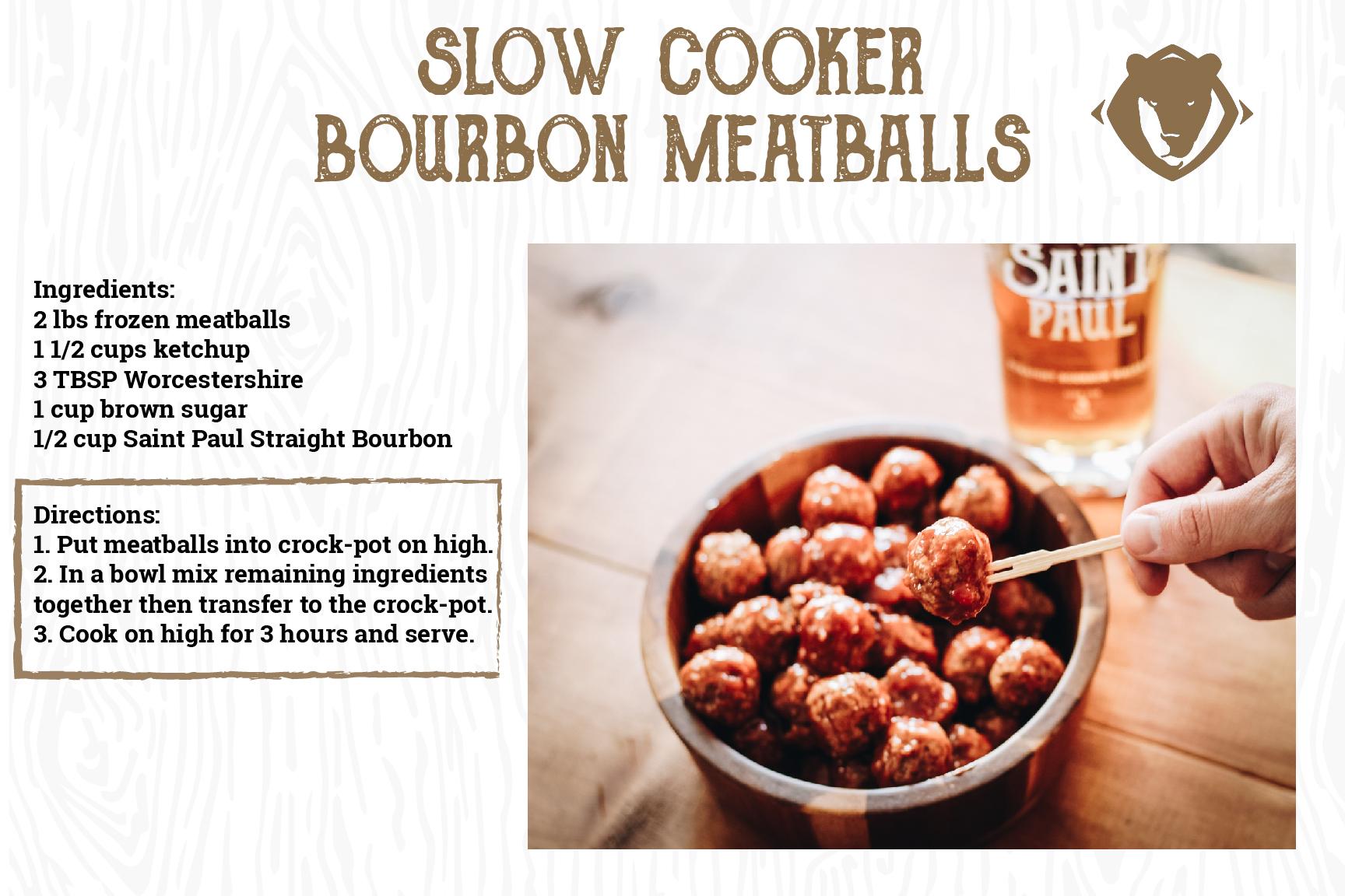 Slow Cooker Bourbon Meatballs