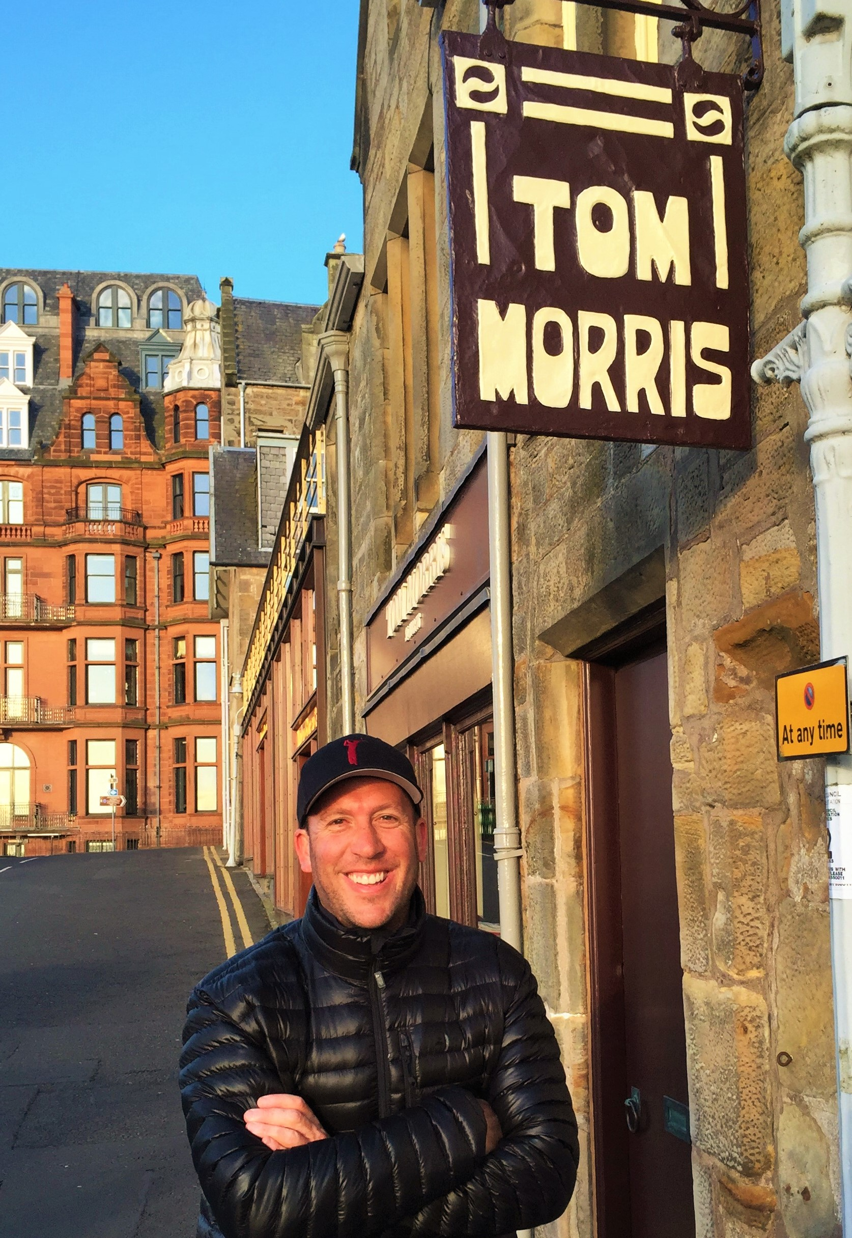 """18th Hole St. Andrews Old Course """"Old Tom Morris"""" Golf Shop-Scotland, 2015"""