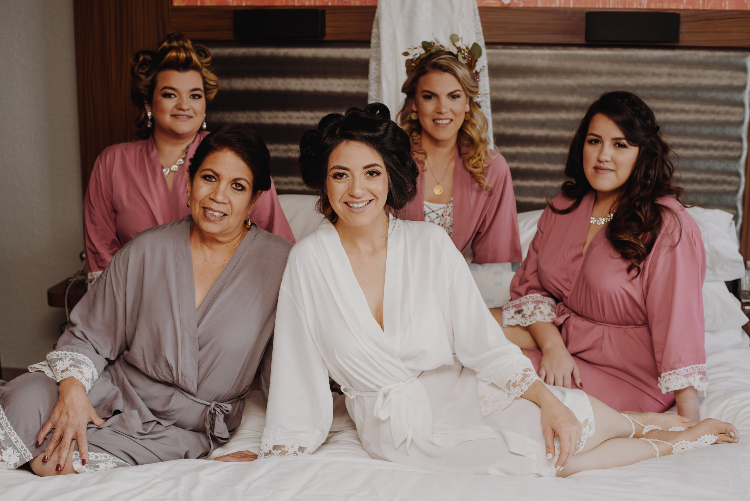 Yay! The bride and her maids.