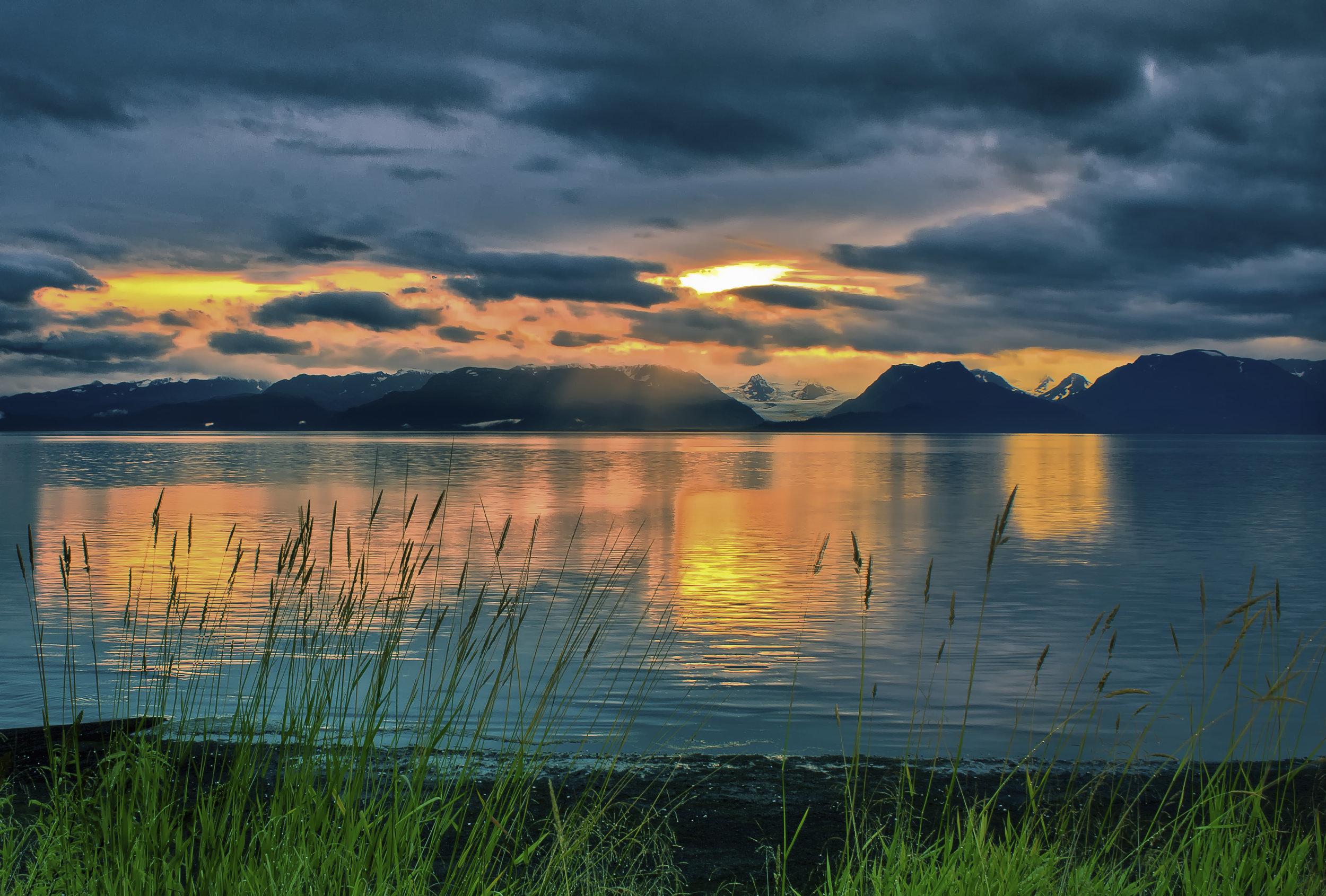 Dawn Over Kachemak Bay, Homer, AK by  Keith Cuddeback
