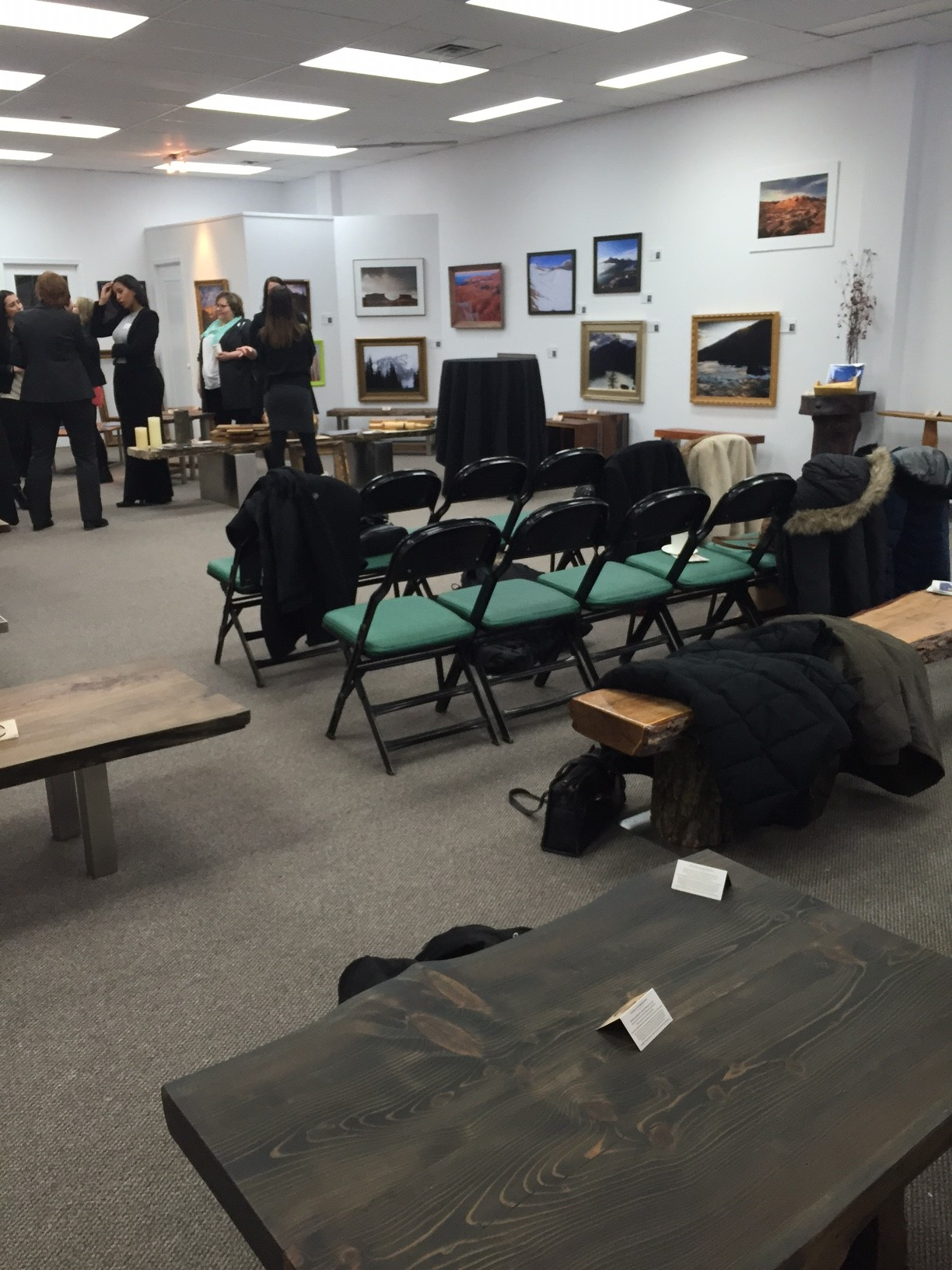 EPM Members mingling at Robert Lowdon Gallery.