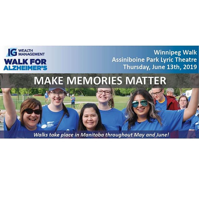 #MemberMonday  The Alzheimer's Society of Manitoba's #WalkForAlzheimers event takes place June 13th! Event registration is now live!  Check out heir page & website for more info @alzheimermb  #epmmember #epmanitoba #eventprofessionalsmanitoba  #winnipeg #winnipegevents #manitoba #manitobaevents #wpg #204 #ywg #winnipegfundraiser