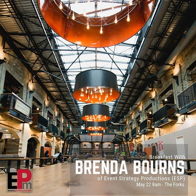 Join us for breakfast 🍳 May 22 • 8am • @theforkswinnipeg  Guest speaker will be Brenda Bourns from @eventstrategyproductions  Breakfast from @dannysbreakfast  Tickets on sale now! Link in the bio 👆  #epm #epmmember #eventprofessionalsmanitoba #epmanitoba #eventproswinnipeg #eventprosmanitoba #eventpros #eventprofs #winnipeg #manitoba #wpg #ywg #204 #winnipegnetworking #winnipegbuisness #winnipegevents #wpgevents