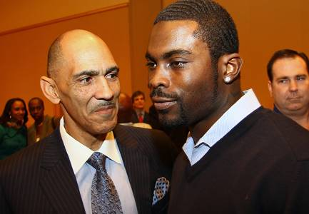 Remember, Vick is a nice guy now. He's friends with Tony Dungy.