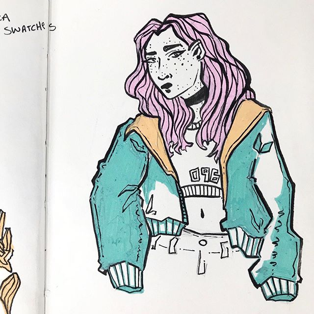 I've been playing a bit of catchup on #the100dayproject2019 over the past couple of days, so I thought I'd drop off a little sketch dump that will bring me up through day 70! ⠀ ⠀ I also received some Posca pens I had ordered yesterday after weeks of waiting, so I had to do some experimenting with them in my sketchbook. So far I've thoroughly enjoyed the effect they give these little sketches and I will most certainly be using them more in the very near future. On that note, there's a purple in the set I bought that's almost perfect for Cadman's hair, so guess who'll be making an appearance somewhat soon. #100daysofwoiocs #the100dayproject