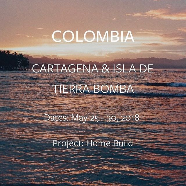 C O L O M B I A // We're coming back for you.  Thanks to our partner @worldhousing and their brilliant 1-for-1 realtor model (sell a home, give a home) we're funding 5 homes and bringing a small crew of Journeyers to help the local volunteers and families build them. Spots limited, early bird pricing thru January. 2018 is our year; let's come together and make change.  Link in bio 🌏💙✈️ #travelwithpurpose