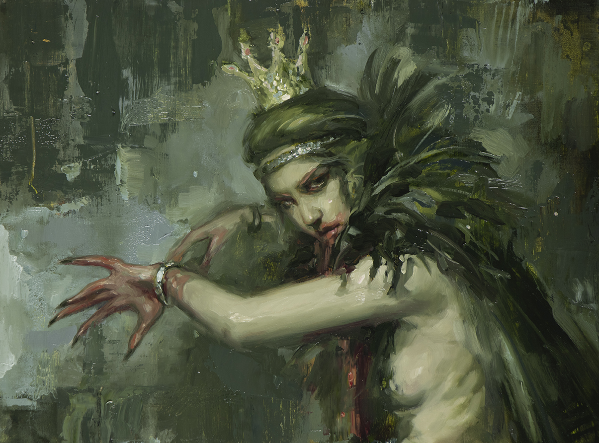 "Mad Queen // 9"" x 12"" - oil on panel //  Haven Gallery"