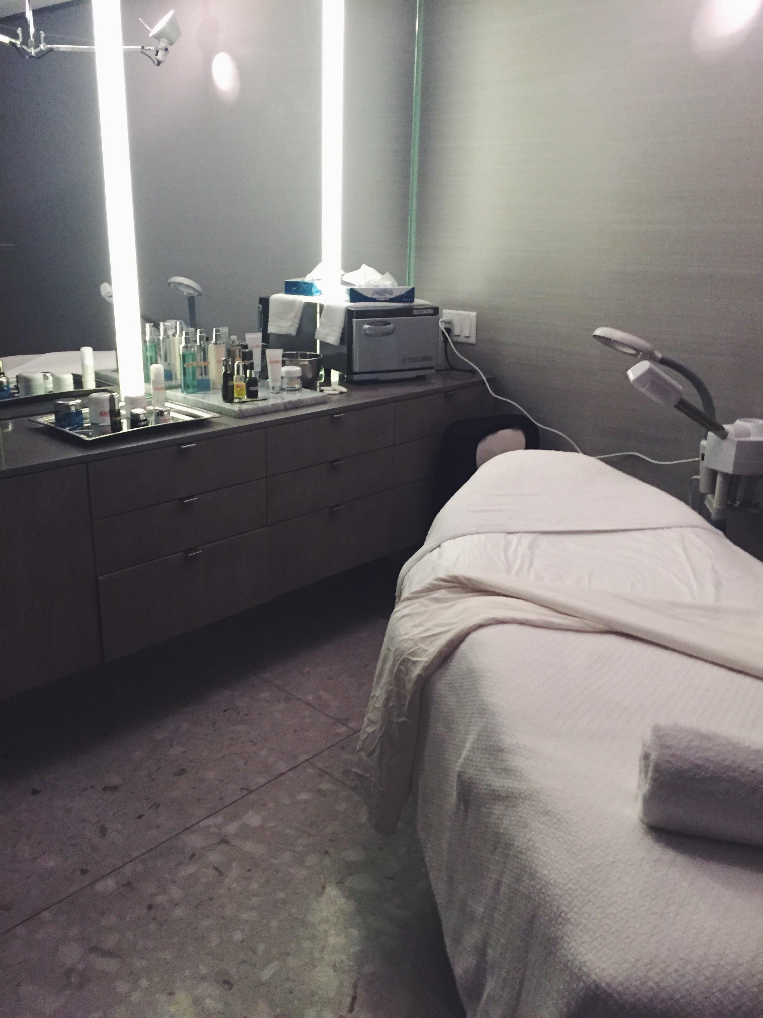 Barney's private facial room