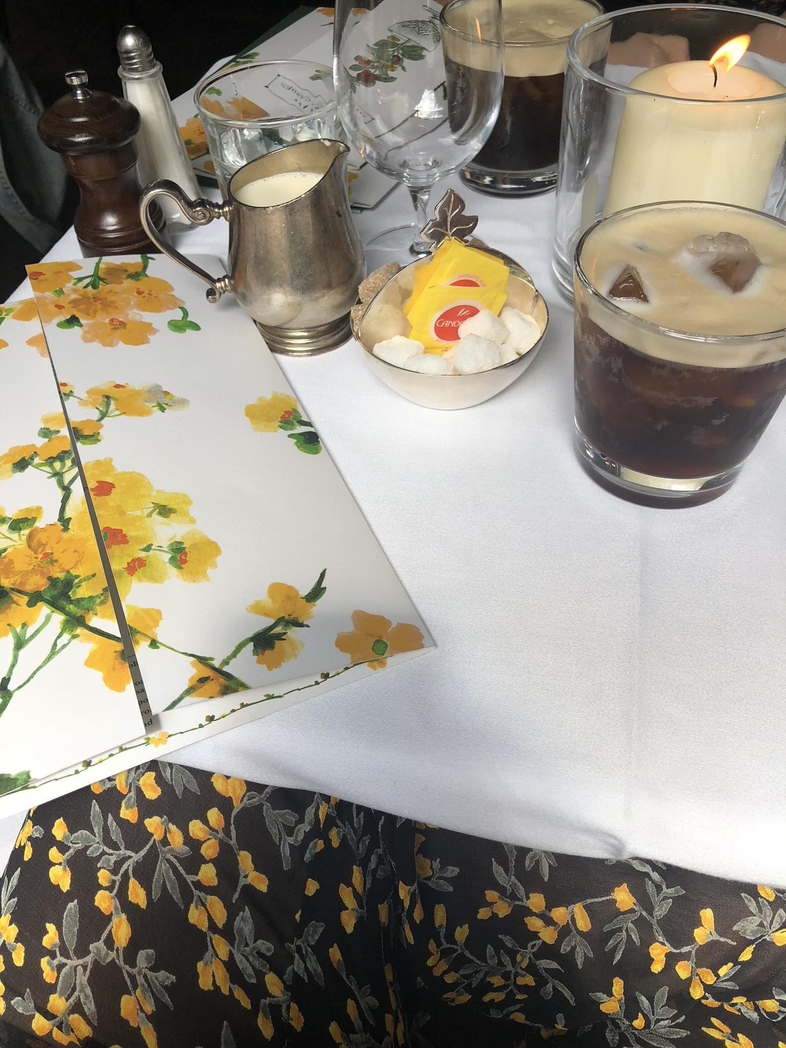 The Ivy Chelsea even has designer menus