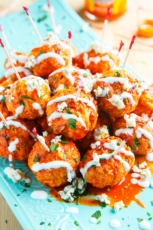 Healthy and delicious low carb buffalo chicken meatballs