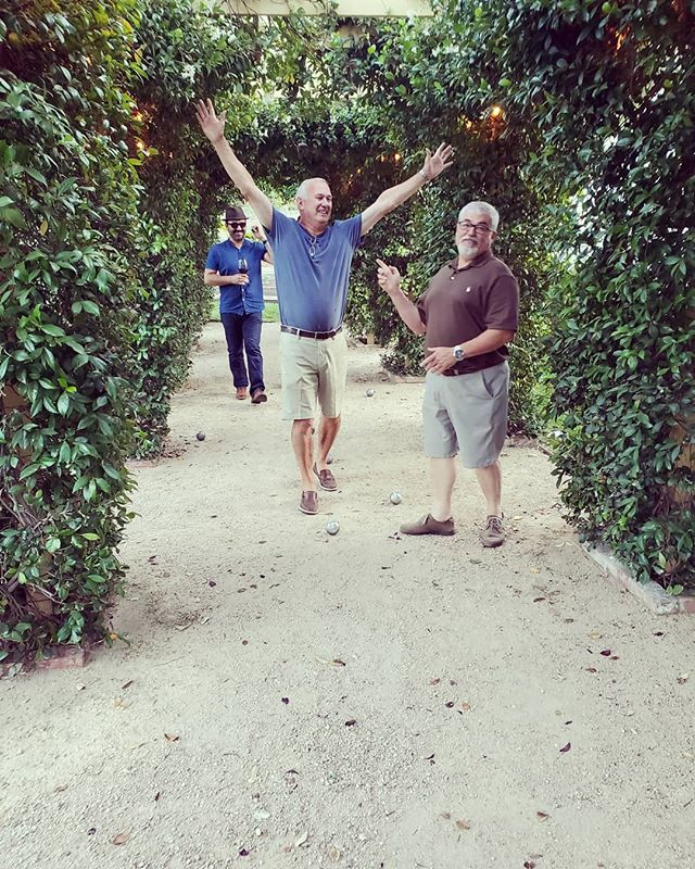 Walking into Friday like a champ! • #petanque #champions #blbrasserie #buonatavola #leclubdesamis