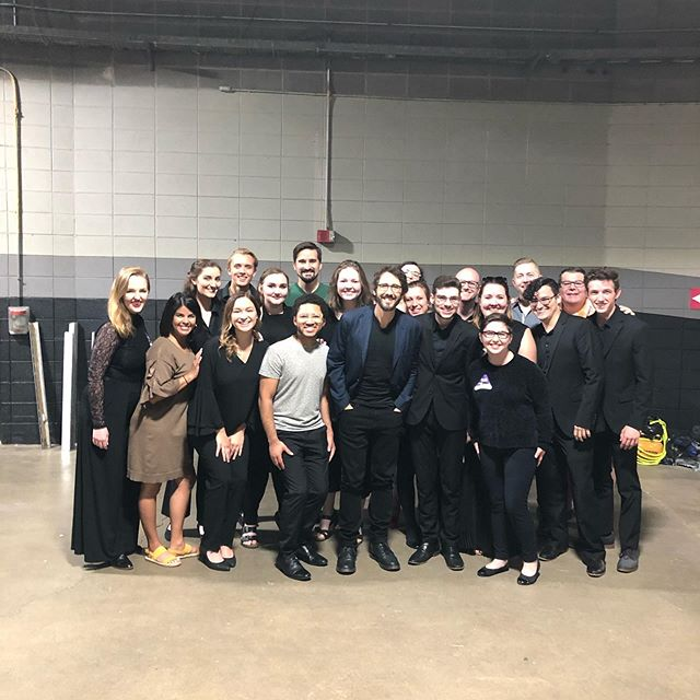An honor to be singing with Josh Groban tonight in Cincinnati. #joshgroban #joshgrobanconcert #excited #river #bridgeovertroubledwater #youraisemeup #tenorlife #tenorlifestyle #panuccio #panucciostyle