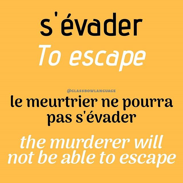If in case you want to hunt bounty in France and want to search for an escaped prisoner I have a ver nice word for you.  #FrenchGrammar #FrenchLesson #FrenchAccent #FrenchLanguage #AskInFrench #LearnFrench #StudyFrench #FrenchStudying #French #FrenchVocabulary #FrenchWords #FrenchPhrase #PracticeFrench #ILoveFrench #escape