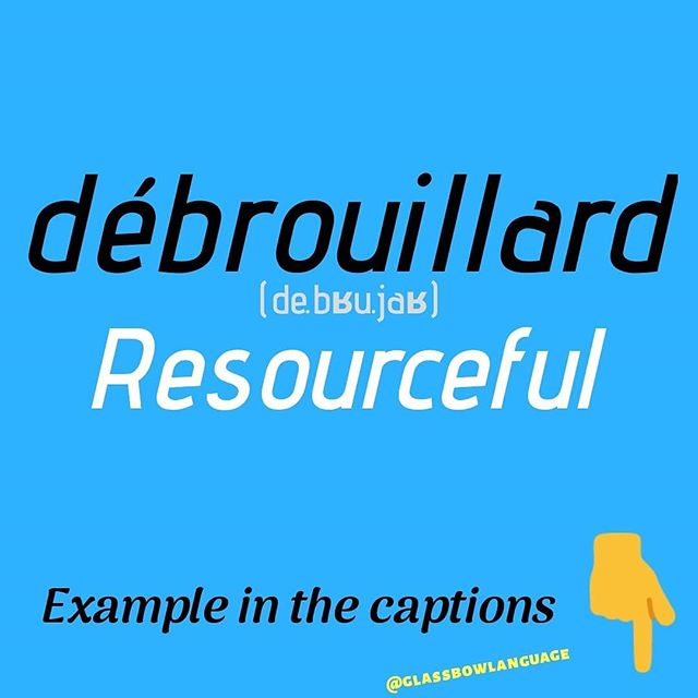"Example: ""Il est jeune, plutôt débrouillard et parle plusieurs langues"" - ""He is young, rather resourceful and speaks several #languages""  This word doesn't really have an equivalent in English but a picture of a person who is #débrouillard would be a person who can take care of things on their own. They are ""street smart"" and know how to get things done. They don't depend on people to solve their #problems for them.  #FrenchGrammar #FrenchLesson #FrenchAccent #FrenchLanguage #AskInFrench #LearnFrench #StudyFrench #FrenchStudying #French #FrenchVocabulary #FrenchWords #FrenchPhrase #PracticeFrench #ILoveFrench #escape #new #interestingfactsinhindi"