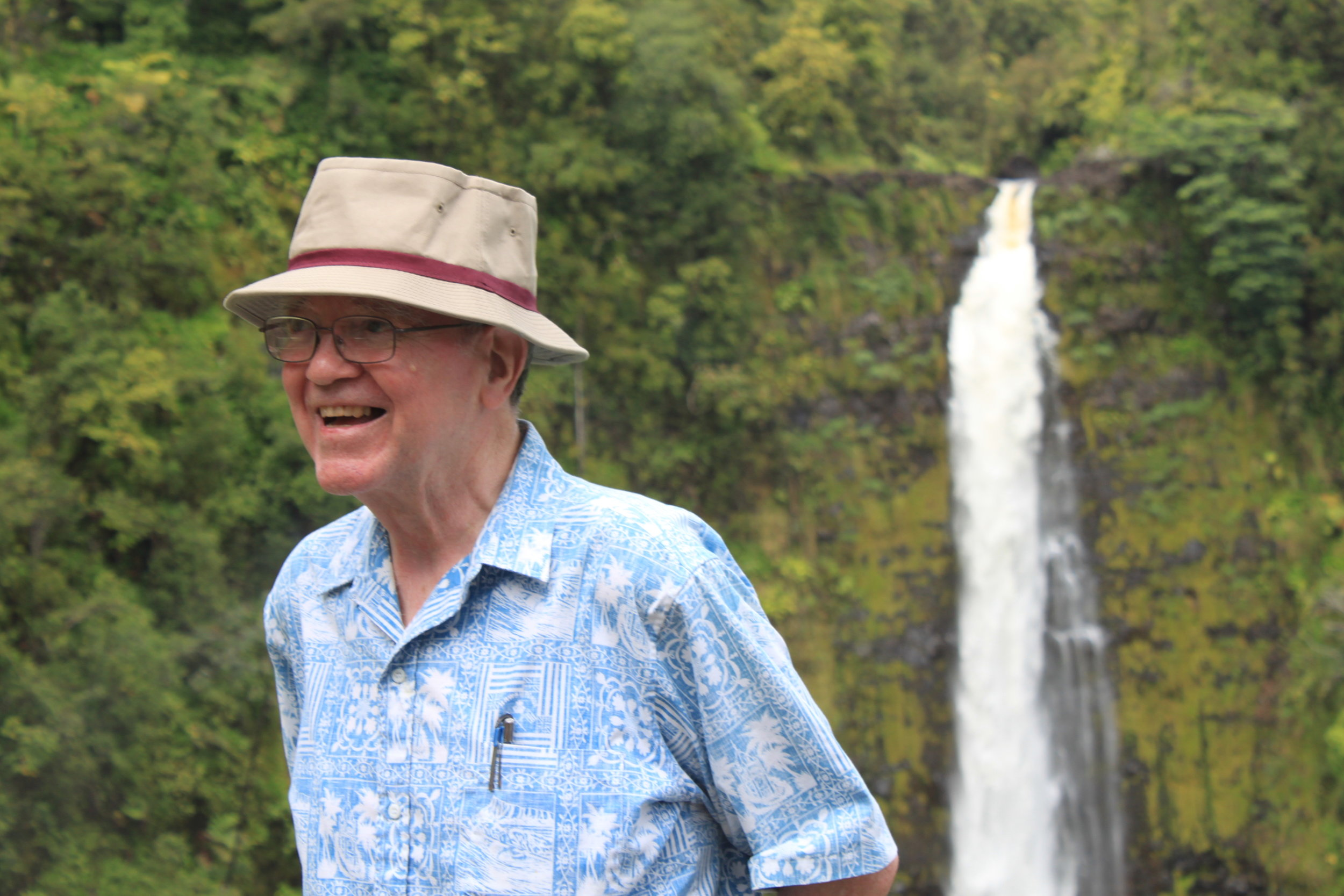 My father, Leo, enjoying time with family in Hawaii.