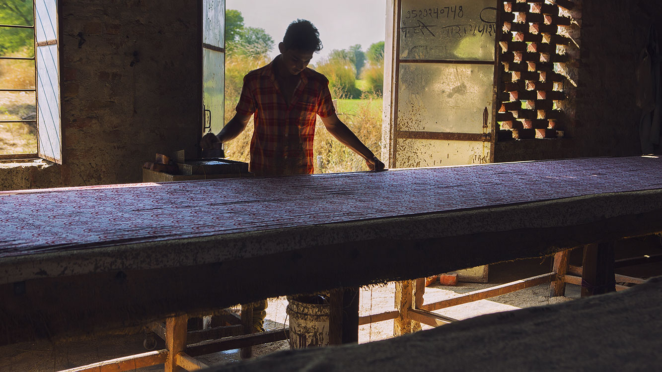 Highly skilled artisans teach traditional processes.