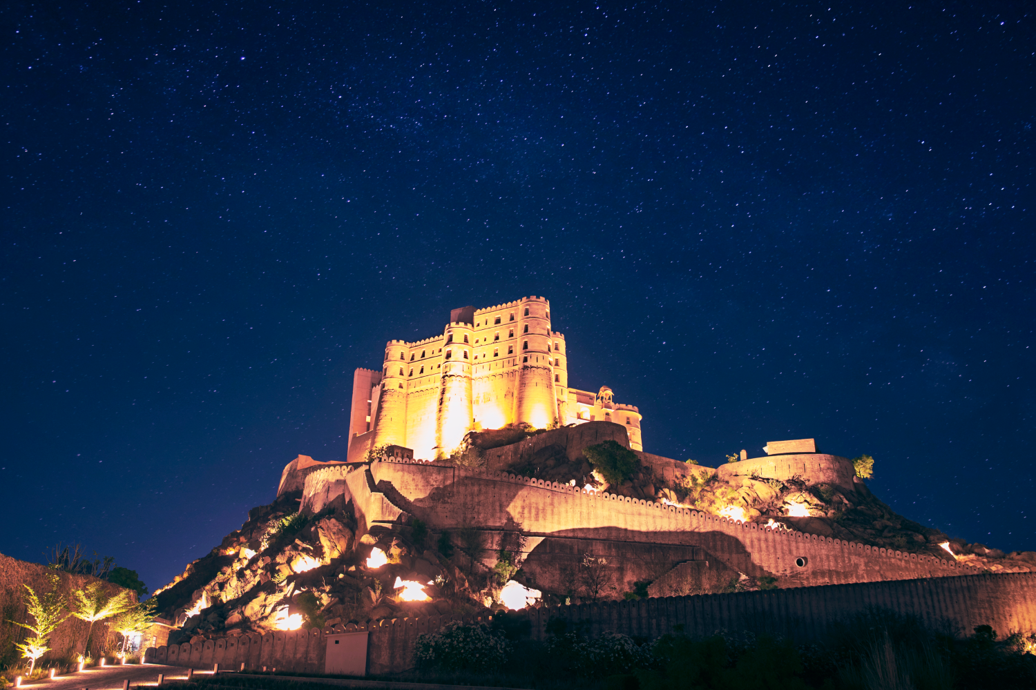 Stay at a 230 year old warrior fortress sensitively converted to an ultra luxury boutique resort