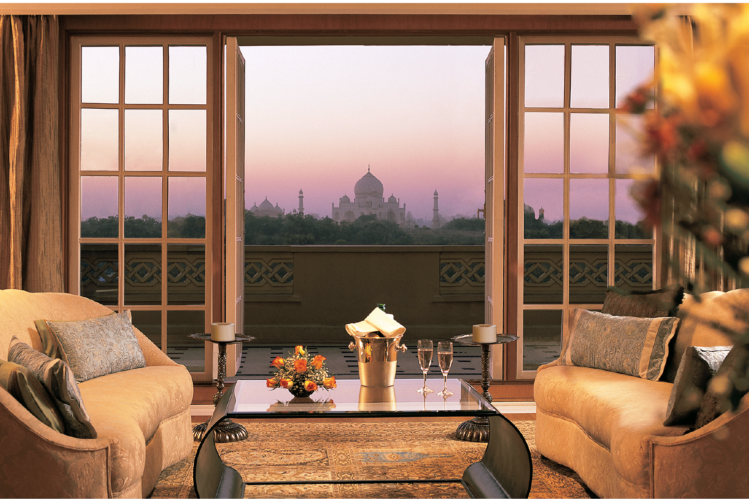 Gaze upon a Wonder of The World from your luxurious regal suite