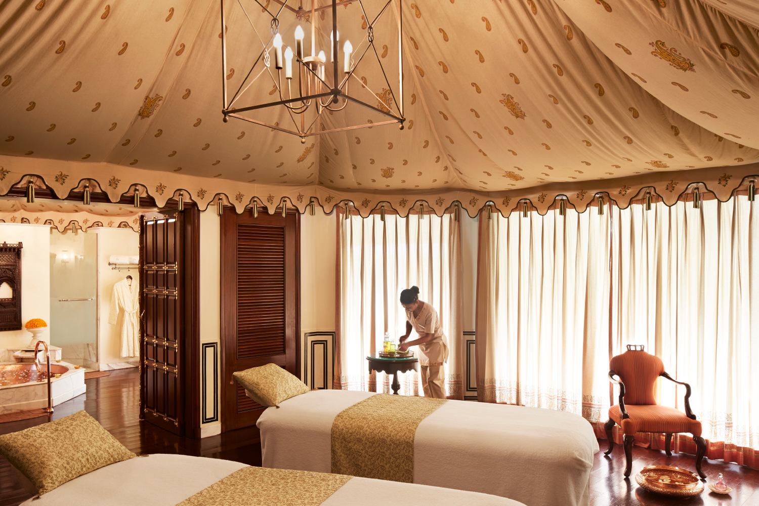 Stay at a magnificent palace, an 1835 structure built for a royalty, later a hunting lodge and a Maharajah's residence