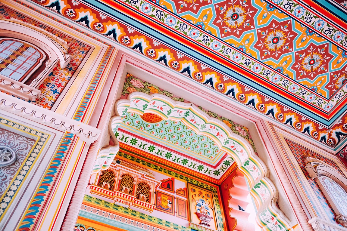 Inspiration from the. magnificent architecture of Rajasthan's forts and palaces.