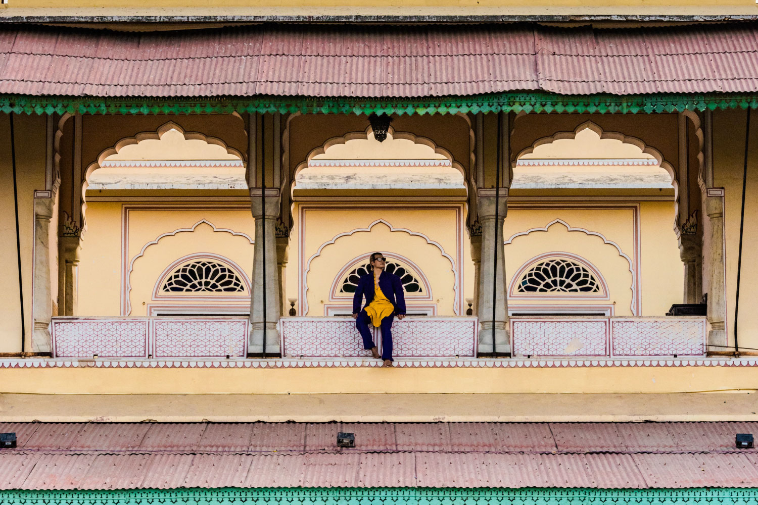 Striking a pose at Castle Kanota, Jaipur