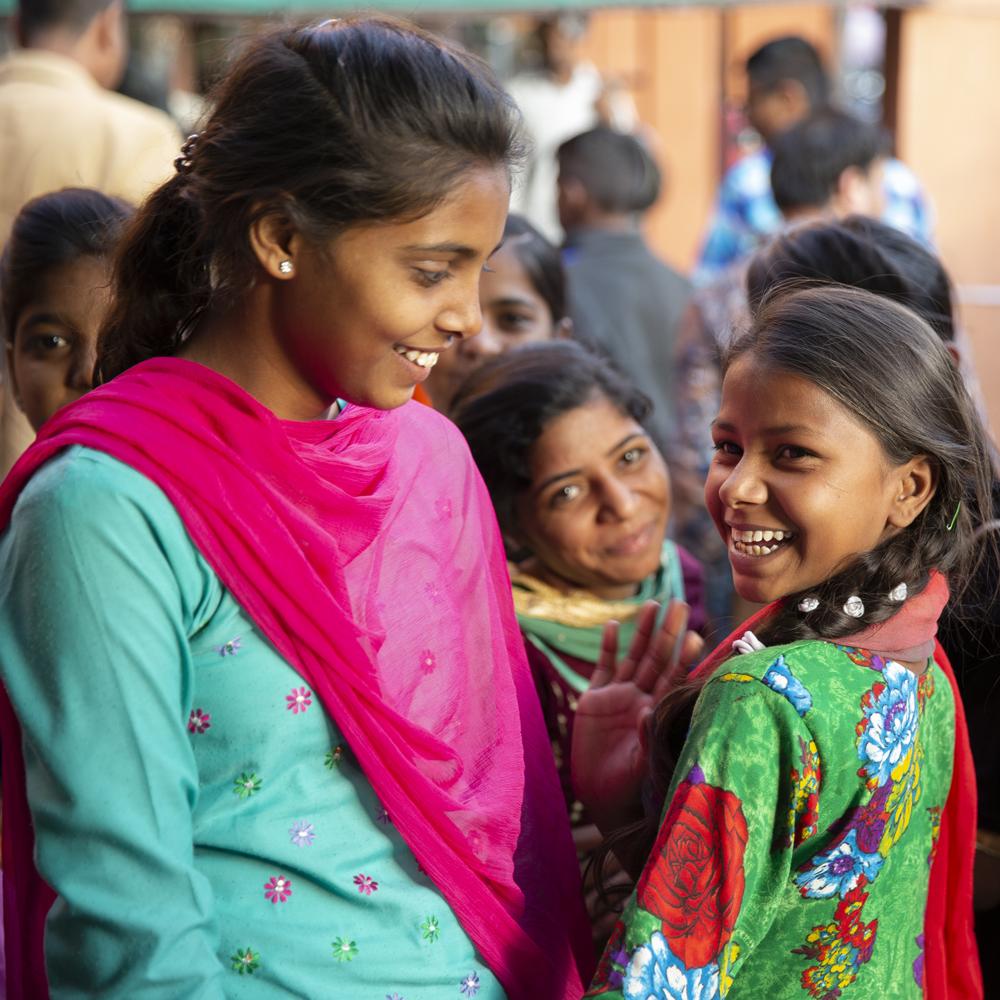 India girl on street