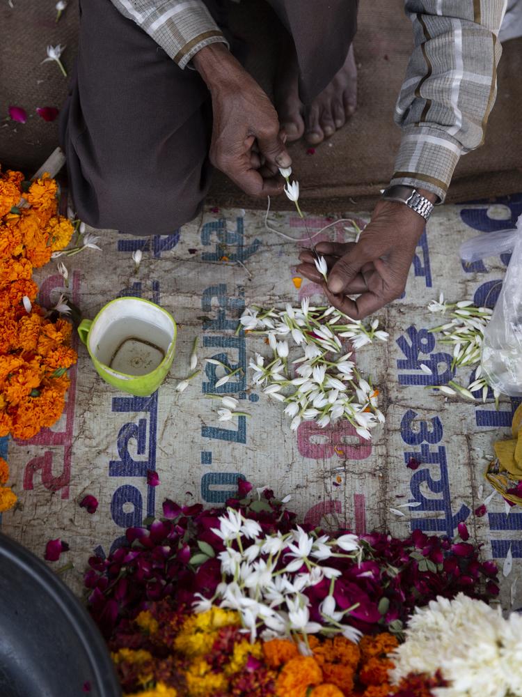 Indian flower artisan