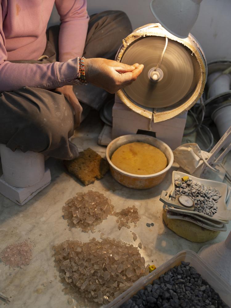 Indian pottery artisan