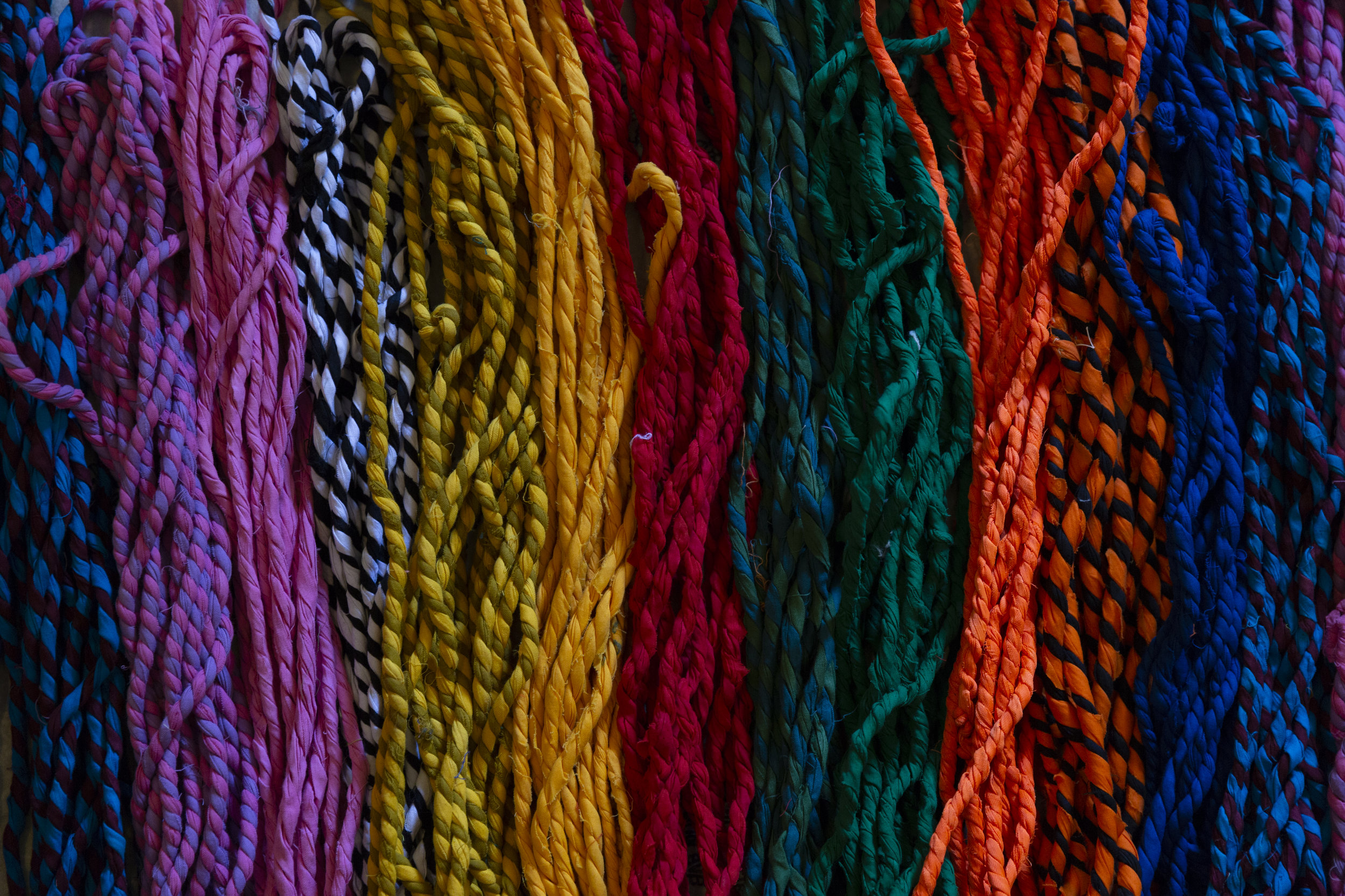 - Yarn woven out of textile waste by Sahil & Sarthak
