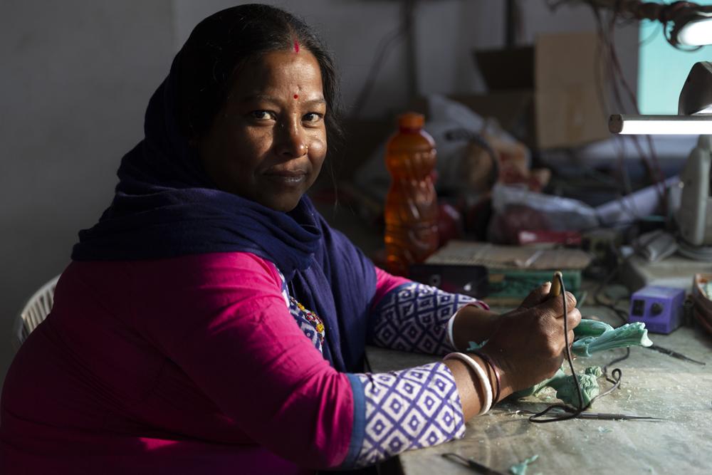 Indian woman artisan