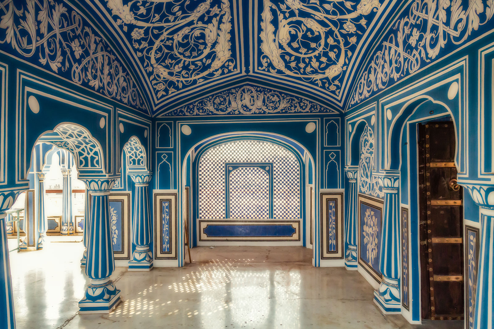 The famous Blue Room at City Palace.