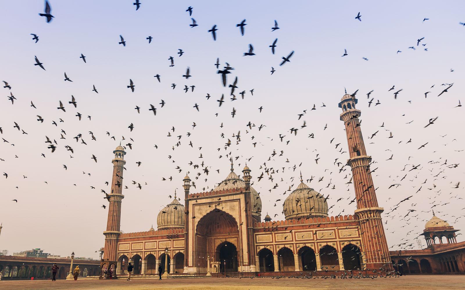 The historic Jama Masjid, Old Delhi.