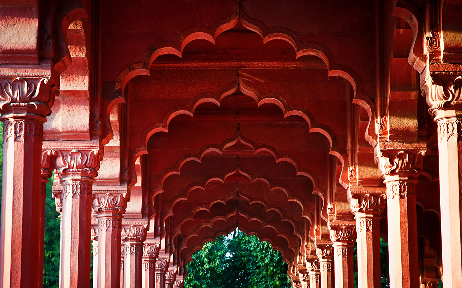 Detail of the majestic Red Fort.