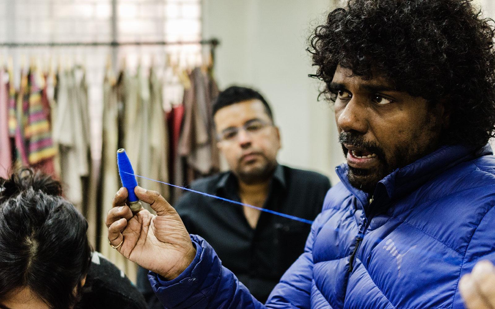 Designer-maker Gaurav Jai Gupta takes an engrossed audience through his creative process