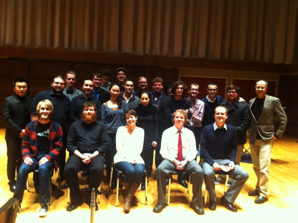 With the Project 21 Composers group at Oklahoma City University.