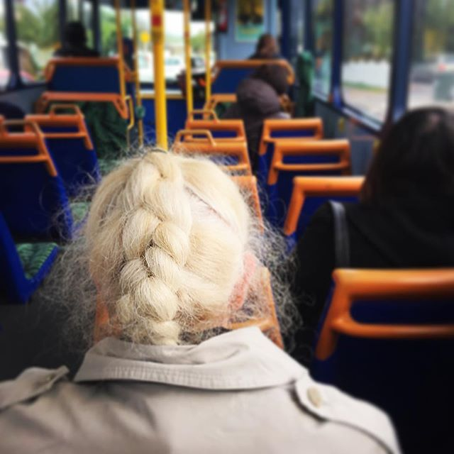 Angels ride in buses masquerading as kindly old women with shining halos of plaited snow white hair
