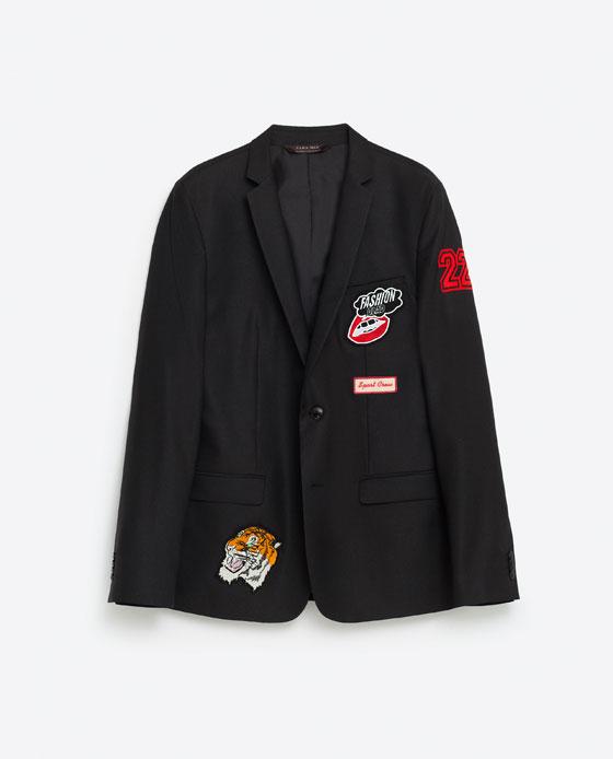 ZARA patches blazer