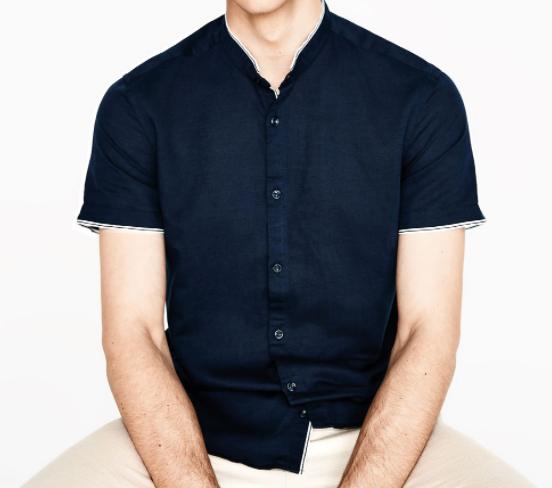 Zara mandarin collared shirt