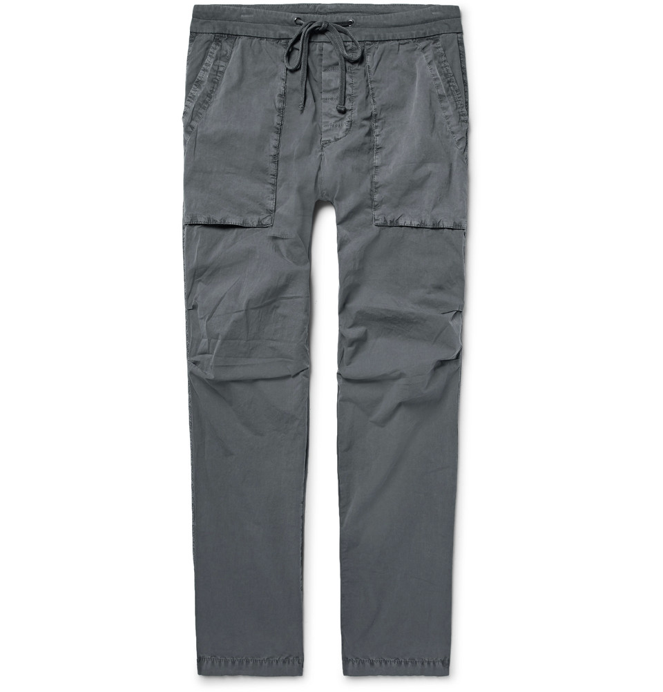 JAMES PERSE Slim-fit stretch cotton poplin cargoes, NZD$ 501