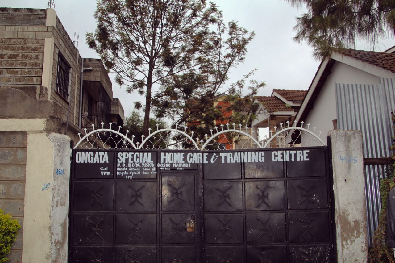 The gates to Ongata Special Home Care & Training Centre