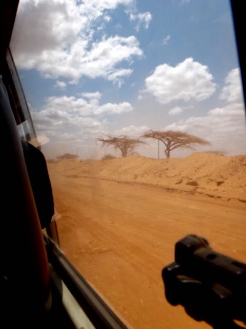 The dirt road from hell - even Hades himself wouldn't travel (taken in the daylight on the journey back to Nairobi)