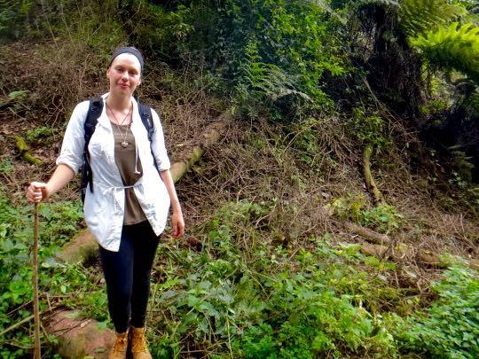 Gorilla trekking Kirstin ready to go