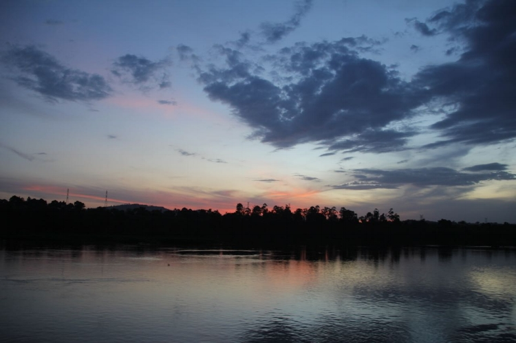 One of many stunning sunsets over the Nile