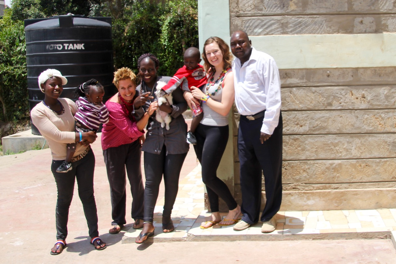 My gorgeous host family, during my volunteer placement in Kenya