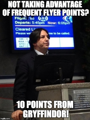 Snape frequent flyer points